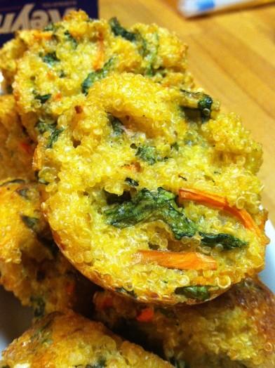 Trying New Things Cheesy Veggie Quinoa Bites