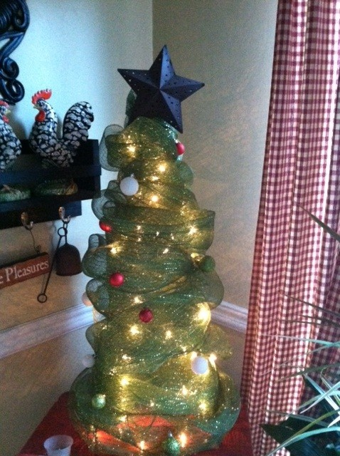 advertisements - Tomato Cage Christmas Tree With Mesh