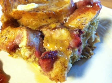 strawberry french toast closeup