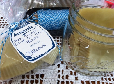 lotion bars packaged