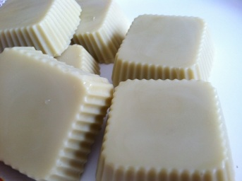 lotion bars unmolded