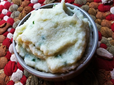 garlic cauliflower mash