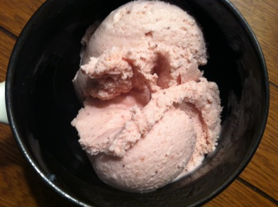strawberry jam ice cream